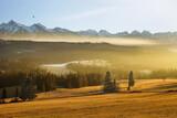 Fototapeta  - Wschód słońca, widok na Tatry