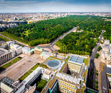 Aerial View Of Brandenburg Gate In Summer Day, Berlin