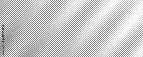 Obraz Abstract gray monochrome stripe pattern design. Minimal striped surface isolated on white background. Eps 10 Vector - fototapety do salonu