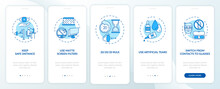 Digital Eyestrain Prevention Tips Onboarding Mobile App Page Screen With Concepts. Use Matte Screen Filters Walkthrough 5 Steps Graphic Instructions. UI Vector Template With RGB Color Illustrations