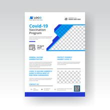 Covid 19 Coronavirus Vaccination Program Flyer Template Design
