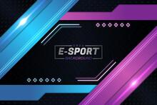 E-Sports Background Purple Style