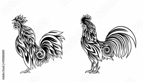 Photo Decorative cockerel