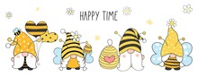 Draw Bumble Bee Gnomes For Spring And Summer