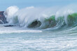 canvas print picture - Haushohe Brandung am Atlantik