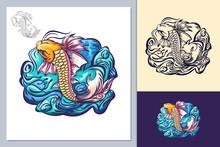 Animal Fish , Creative Design Vector
