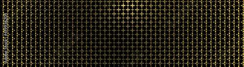 Fotografiet Fondo de cruces de oro de dos tamaños distintos y en volumen 3D