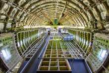Inside View Of Airplane Fuselage During Maintenance