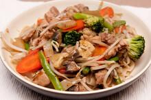Portion Of A Veggie-loaded Chicken Chop Suey