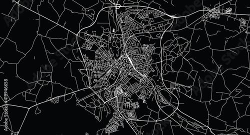 Photographie Urban vector city map of Naestved, Denmark