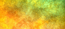 Bright Multicolor Shining Orange Yellow Green Background With Grain And Sparkles, Shining Stars