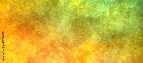Fotografija bright multicolor shining orange yellow green background with grain and sparkles
