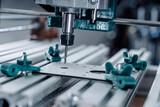 CNC milling machine cutting aluminium  part.
