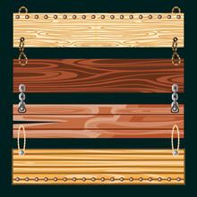 Set Wooden Boards