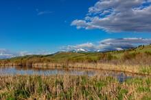 Flint Creek Mountains And Wetlands Near Deer Lodge, Montana, USA