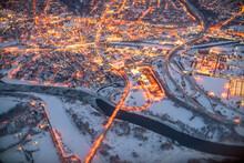 Beautiful Aerial Shot Over Albany, New York