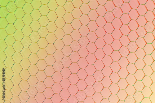 Abstract colorful geometric hexagon background Wallpaper Mural
