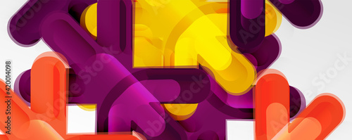 Obraz Abstract glossy crosses background for business or technology presentations, internet posters or web brochure covers - fototapety do salonu