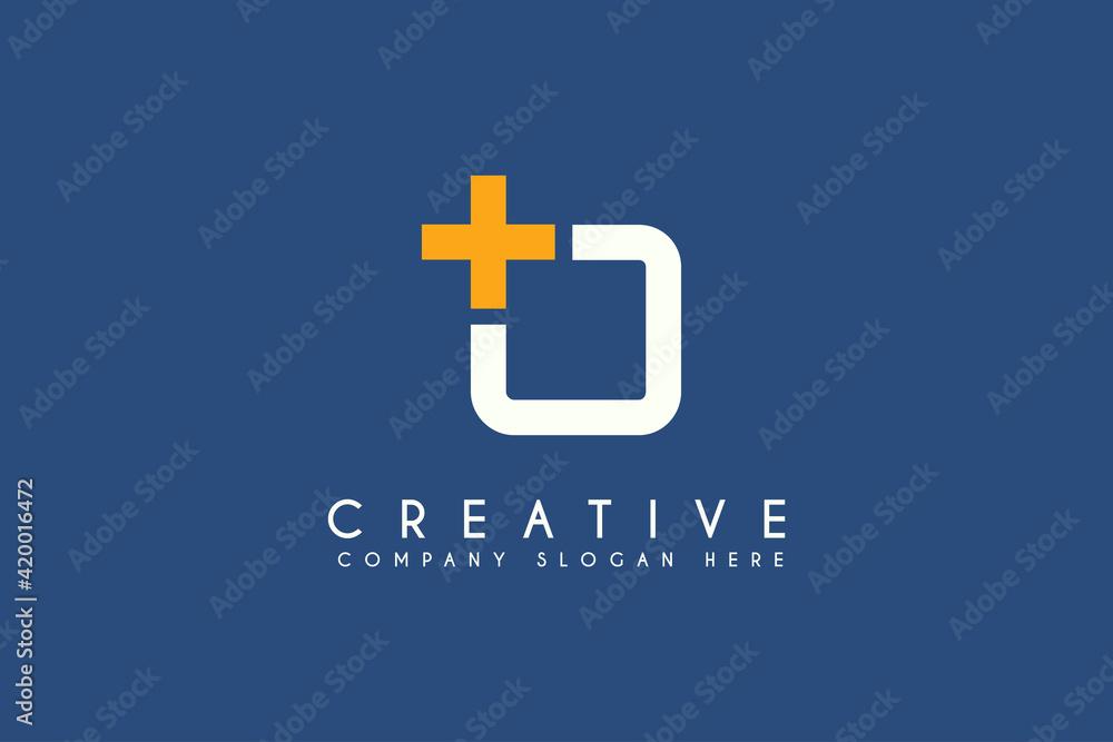 Fototapeta Medical cross logo design. Company brand vector logo element
