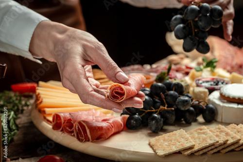Fényképezés Traditional italian antipasto