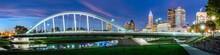 Main Street Inclined Arch Suspension Bridge At Bicentennial Park. COLUMBUS OH