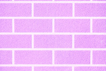 Beautiful Brick Wall For Background Or Texture. Ideal Straight Lines