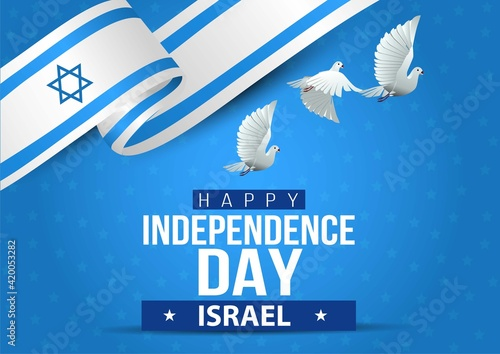 Obraz na płótnie happy independence day israel