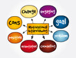 Motivational Interviewing mind map, concept for presentations and reports