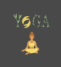 Poster, Emblem, Invitation, Design For A Yoga Classroom