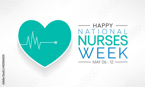 Fotografering National Nurses week is observed in United states from May 6 to 12 of each year, to mark the contributions that nurses make to society
