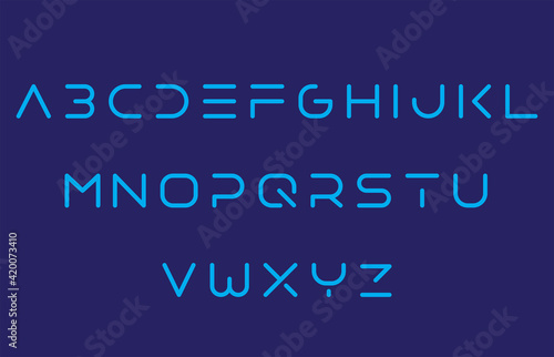 calligraphy alphabet capital lettering a to z font family Fototapet