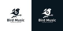 Music Bird Logo Design Template