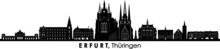 ERFURT Thüringen Germany City Skyline Vector