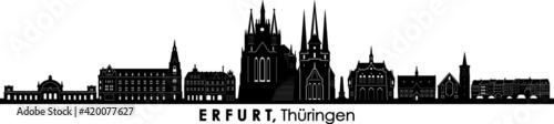 Valokuva ERFURT Thüringen Germany City Skyline Vector