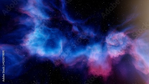 Fototapeta abstract background for design, space abstraction, starry cosmic backround, star background, galactic background 3d render  obraz