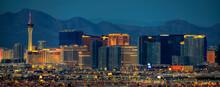 Las Vegas, Nevada, USA Cityscape Over Neighborhoods At Night