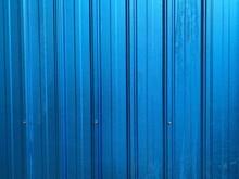 Metallic Blue Iron Wall (iron Sheeting) Pattern