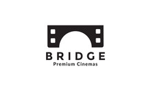 Cinema Movie With Bridge Logo Symbol Vector Icon Illustration Design
