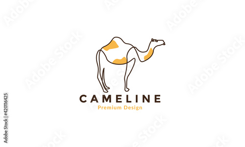 Photo lines abstract colorful camels logo vector symbol icon illustration design