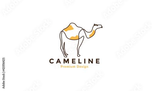 Fotografie, Tablou lines abstract colorful camels logo vector symbol icon illustration design