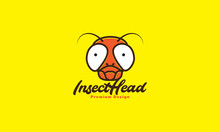Animal Head Insect Flies Colorful Cute Logo Symbol Vector Icon Illustration Design