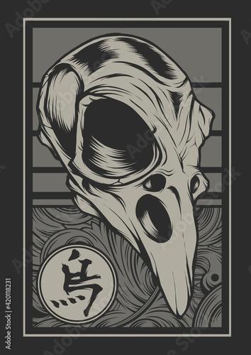 Crow Skull Fototapeta