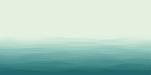 Abstract Waves Cover. Horizontal Background With Curves In Mint Colors. Elegant Vector Illustration.