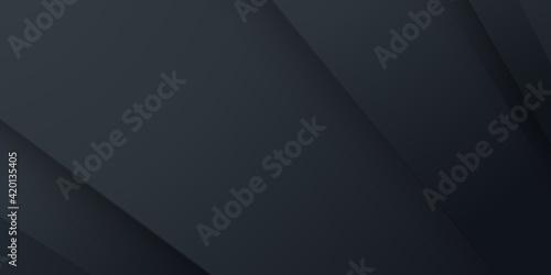 Fototapeta Black abstract geometric background. Modern shape concept. obraz