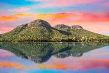 Magaliesberg Mountains View From Hartbeespoort Dam With Twilight