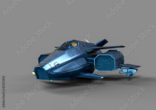 Slika na platnu metal space ship