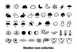 天気予報を表現するアイコン素材セット