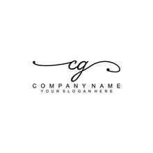 CG Beautiful Initial Handwriting Logo Template