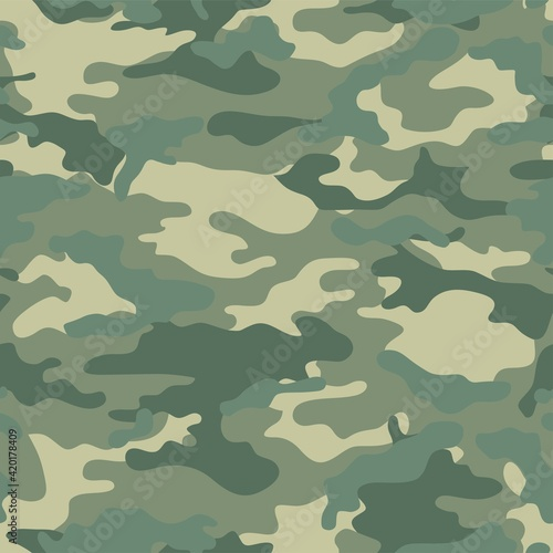 Papel de parede Vector seamless pattern of military camouflage