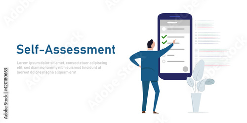 self assessment concept of personal review business check list